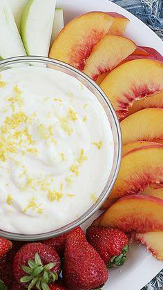 Lemon Cheesecake Fruit Dip