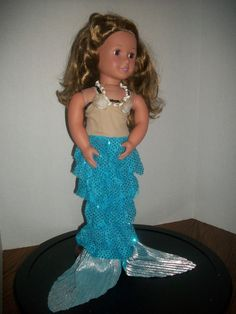 doll mermaid costume doll clothes american girl doll 18 inch