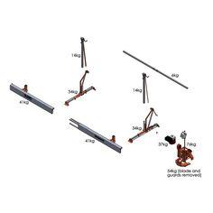Manual Warrior swing-blade Sawmill — Smith Sawmill Service Chainsaw Mill, Grilled Pork, Pork Belly, Blade, Manual, Recipe, Textbook, Recipes, Llamas