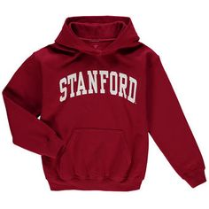 Stanford Cardinal Youth Cardinal Secondary Logo Basic Arch Pullover Hoodie