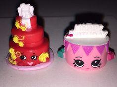 Shopkins Wendy Wedding Cake (Rare) AND Birthday Betty both Season 3 Never Used