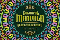 Colorful Mandala Abstract Geometric by Arterfak Project on @creativemarket