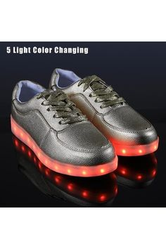 LoveSport Unisex LED Light Lace Up Luminous Flat Sneaker Shoes 36-46 (Silver) | ราคา: ฿1,094.00 | Brand: lovesport | See info: http://www.topsellershoes.com/product/8309/lovesport-unisex-led-light-lace-up-luminous-flat-sneaker-shoes-36-46-silver