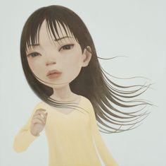 From Tomio Koyama Gallery, Hideaki Kawashima, miss out Acrylic on canvas, 91 × 91 cm Whimsical, Oriental, Illustration Art, Canvas, Gallery, Creative, Artwork, Anime, Painting