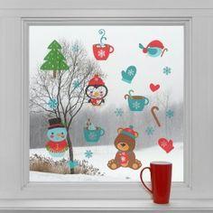 Vánoční dekorace na okno - Vánoční pohoda