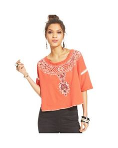 Free People - Orange Embroidered Top - Lyst Today Images, Free People, Orange, Tops, Women, Fashion, Moda, Women's, La Mode