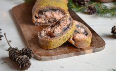 Strudel salato con salmone e cipolle caramellate, perfetto per il menu di Natale