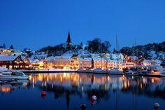 Grimstad Norway | Grimstad Harbour by JR's Eyes, via Flickr #Norway ☮k☮ #Norge