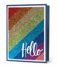 American Crafts Glitter Paper or Glitter Ritz Pretty Cards, Cute Cards, Diy Cards, Card Making Inspiration, Making Ideas, Glitter Crafts, Glitter Ribbon, Glitter Art, Glitter Lips