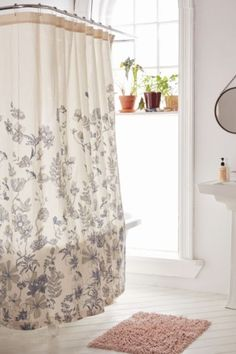 Plum & Bow Scattered Flowers Shower Curtain - Urban Outfitters
