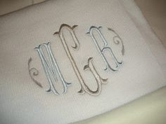 Two color monogram ideas