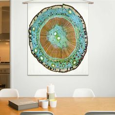 Naturalis Unlimited - Stem cross section II doek Tapestry, Home Decor, Design, Products, Exotic, Hanging Tapestry, Tapestries, Decoration Home, Room Decor