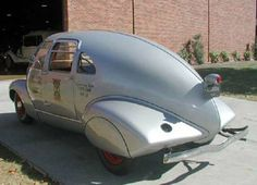 1936, January, McQuay-Norris a bold breakthrough in design. Produced a fleet of six cars called aluminum eggs for their strange appearance. The Egg with a Classy Chassis