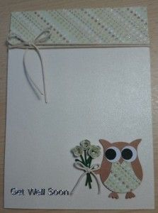 1 cute handmade owl get well soon card