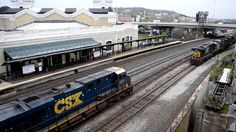 CSX Backing the Circus Train at Union Station Worcester