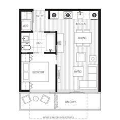 Si - Let's peg some of these floor plans out and go from there :) Small Apartment Plans, Apartment Floor Plans, Apartment Layout, Apartment Design, Cabin Design, Design Hotel, Small House Design, Small House Plans, House Floor Plans