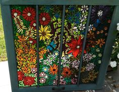 Garden Party - by Light of Mine Glass Mosaic Glass, Fused Glass, Glass Art, Mosaic Art Projects, Stained Glass Projects, Mosaic Windows, Stained Glass Windows, Mosaic Flowers, Artist Gallery