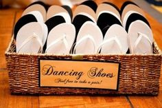 wedding favors - wedding dance shoes  in the basket