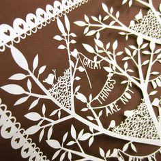 Original Hand Cut Papercut Great Things Are Not by allcutupbydg, £95.00