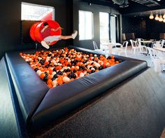 Can we get a slippery slide and ball pit one day please? #office #quirky #socialmedia