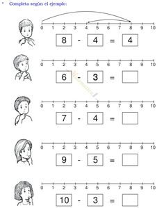 Math Addition Worksheets, Math Practice Worksheets, 1st Grade Worksheets, 1st Grade Math, Spanish Classroom Activities, Kindergarten Math Activities, Preschool Math, Math Subtraction, Math Groups