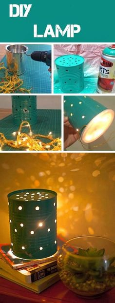 DIY A Lamp For Kid's Sleeping Room.