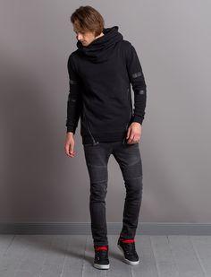 """WORMLAND Online Shop   Sweater """"Mietly"""" mit doppelter Kapuze SCHWARZ   M   online kaufen"""