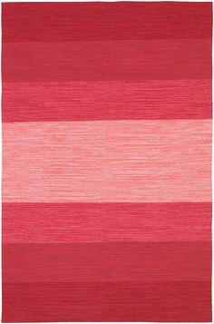 India Pink Stripes Modern Rug