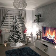 Happy Tuesday everyone 💕 . No big reveal here. but we now have our tree up 🎄 (was hard to get a pic with the lights on) We have realised… Decor Home Living Room, Living Room Decor Inspiration, Living Room Grey, Small Living Rooms, Living Room Designs, Bedroom Decor, Apartment Living, Happy Tuesday, Lights
