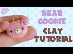 Kawaii Bear Cookie   Polymer Clay Charm Tutorial