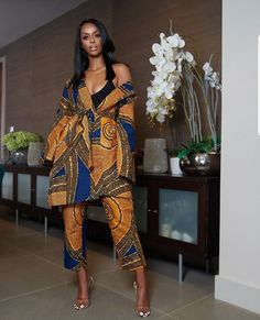 African print long jacket and Pants Two Piece Set /Ankara/African Clothing/African Fashion/Ankara Clothing/maxi pants, ankara kimono jacket African Fashion Ankara, Latest African Fashion Dresses, African Dresses For Women, African Print Dresses, African Print Fashion, Africa Fashion, African Attire, African Wear, African Prints