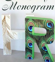 Anthro Still Life Monogram Knock Off
