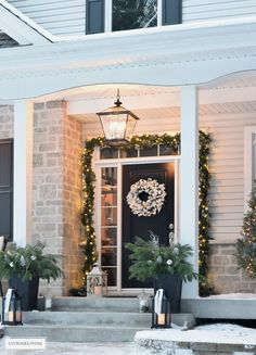 Outdoor Christmas decor and new lighting that has a timeless sensibility as well as classic elements for unforgettable curb appeal! #outdoorlights Best Outdoor Christmas Decorations, Diy Christmas Lights, Decorating With Christmas Lights, Cheap Christmas, Holiday Lights, Christmas Home, Antique Christmas, Christmas Movies, Merry Christmas
