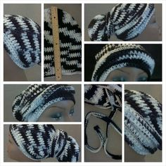 This crochet head wrap/crochet head scarf, crochet dread cap is the perfect blend of style and comfort.  Designed with long hair/long dreads in mind, this hat is completely unisex so it can be worn by men and women.  This crochet hat measures approximately eleven inches in length and the wrap handles measure almost forty inches long.  You can wrap it around your head and still have enough to wrap around your hair.  Tie the ends in a knot, or tuck them in.    Goes from day to evening; dressy…