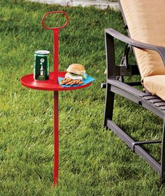Take It Anywhere Outdoor Table is the ideal table for your summer journeys. Steel table keeps cocktails, sodas, snacks, BBQ servings and more nearby as you relax on a lawn chair, beach lounger or other outdoor furniture.