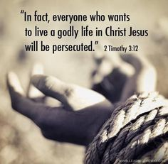 2 Timothy - In fact, everyone who wants to live a godly life in Christ Jesus will be persecuted. The Words, Bible Verses Quotes, Bible Scriptures, Scripture Art, Daily Scripture, Biblical Quotes, Christian Faith, Christian Quotes, Christian Living