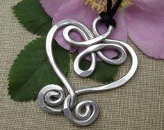 Celtic Embraced Heart Copper Pendant Necklace by nicholasandfelice