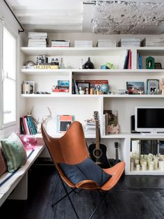 my scandinavian home: Lovely black floors in the home of a French stylist