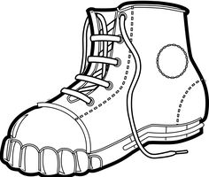 Snow boot coloring page
