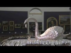 John-Joseph Merlin's Silver Swan automaton, c 1774-82, Bowes Museum. Made entirely of silver, this life-size clockwork swan is both amazing and beautiful. More info: http://twonerdyhistorygirls.blogspot.com/2011/01/silver-swan-swimming-sumptuously-since.html
