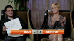 If you love Jennifer Lawrence and Josh H... you have to watch this! I had to repin in.  They really are the cutest.