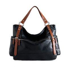 Vegan Leather Black Large Hobo Bag on Eco Market