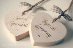 8 cm distressed white hanging hearts.