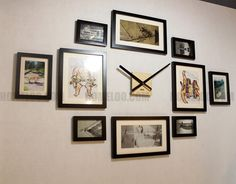 photo picture frame wall clock modern 10 by homeloo on etsy 4800