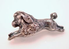 Antique Sterling Silver Poodle Pin Victorian Era by GarnetCross, $45.00