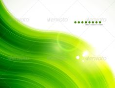 Light Glittering Green Wave Background