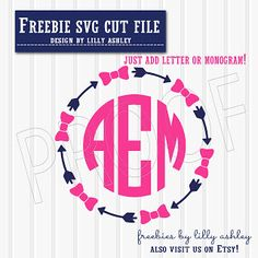 Free SVG cut file for monograms
