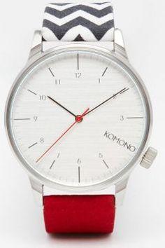 Komono Zig Zag Print Watch - Multi https://modasto.com/kadin-aksesuar-taki-saat/ct34 #saat