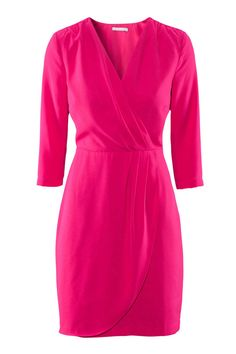 """H&M Hot Pink Dress, $34.95;  target=""""new""""> hm.com Courtesy of H&M  - ELLE.com"""
