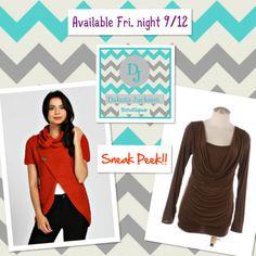 SNEAK PEEK!! Available Friday night, 9/12 on the Dakota Jackson Boutique FB pg. LIKE us on Facebook! www.facebook.com/DakotaJacksonBoutique